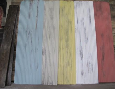 ミルクペイント塗装仕上(小波タイプ) 640 x 2130