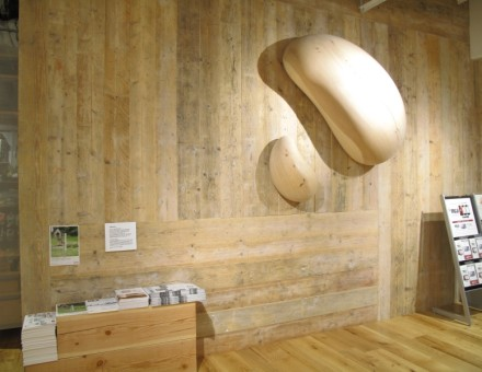 Stage Plank Half(サンディング加工)無塗装品 NM-0750 壁面、什器等に使用(MUJI 梅北グランフロント)
