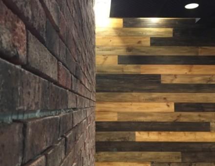 古材風仕上材 Fake Vintage Wood(不燃パイン材) NM-0750 ブラウン系(3色アソート)