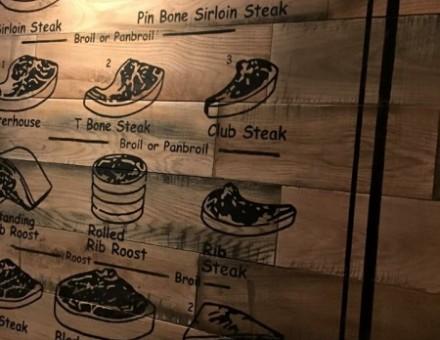 飲食店の壁面材として