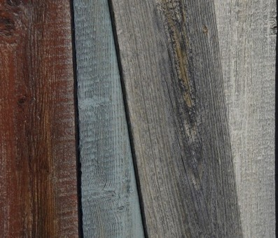 不燃古材の表面をミルクペイントのラスティック塗装仕上 (国土交通大臣認定 不燃材料認定番号 NM-0750)