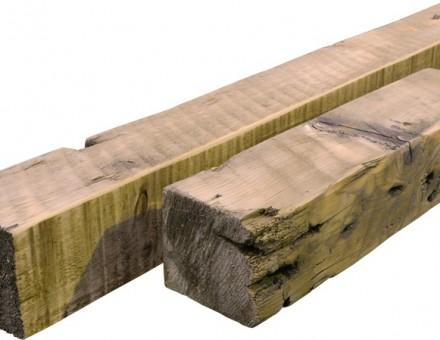古材4x4 約95角材(サンディング加工、無塗装)