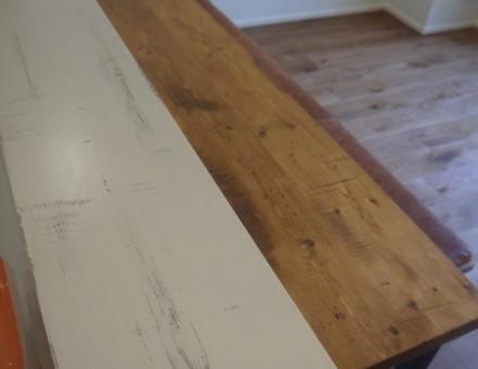 対面キッチンカウンタートップ~側面壁