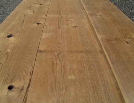 木材の樹液のみで染色された天然の色合い。古材レベルの乾燥材です。 (2 x 10は両面とも同じ表情です。どこを切っても同じ色合いです。)