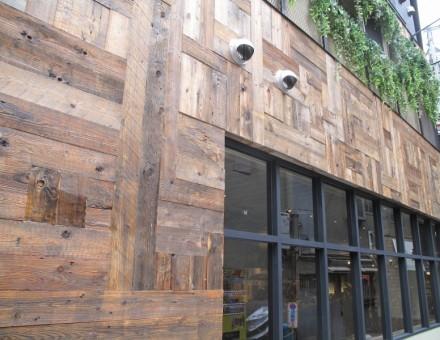 Fence Wood(不燃加工古材) NM-0750 ホイルサンダー加工(クリア塗装仕上)