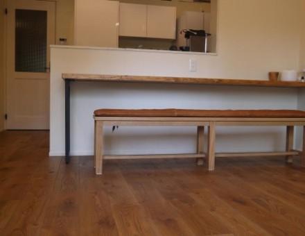 マンションの床材(ビンテージ加工、OSウォルナット仕上)